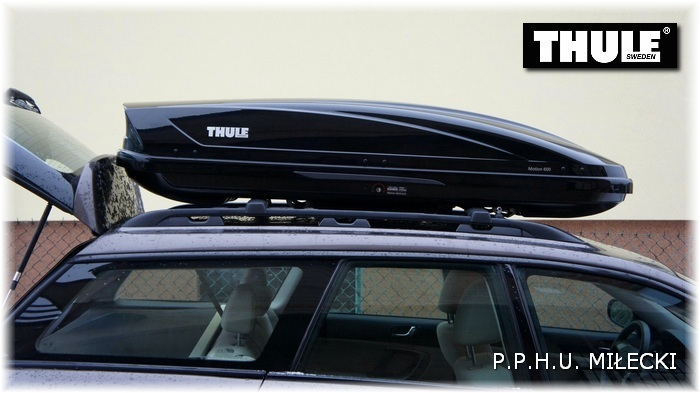thule motion 600 autobox baga nik dachowy box 3293720892. Black Bedroom Furniture Sets. Home Design Ideas